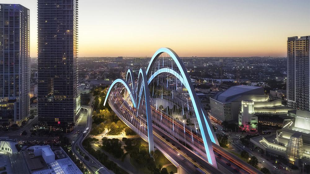 Signature Bridge looking west